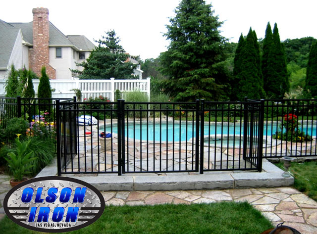 Iron And Mesh Pool Fencing By Olson Iron Las Vegas